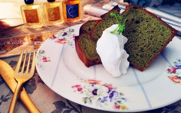 期間限定sweets「抹茶のシフォンケーキ」 Octa Hotel Cafe鹿児島店