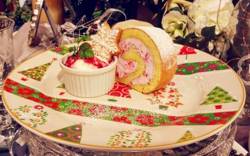 期間限定sweets「Noёl Framboise*ノエル・フランボワーズ」Octa Hotel Cafe鹿児島店